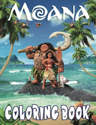 MOANA: Coloring Book for Kids and Adults - 60 illustrations