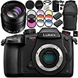 Panasonic Lumix DC-GH5S Mirrorless Digital Camera with Leica DG Nocticron 42.5mm f/1.2 Lens 14PC Accessory Kit – Includes 64GB SD Memory Card + MORE - International Version (No Warranty)