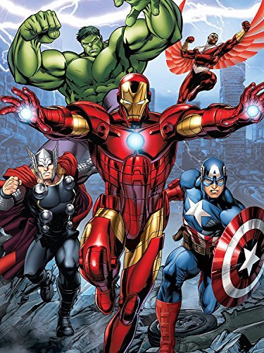 Disney Silk Touch Sherpa Twin Blanket and Marvel Designs 60''x80'' (Avengers) by Disney