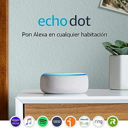 Oferta amazon: Echo Dot (3.ª generación) - Altavoz inteligente con Alexa, tela de color gris claro