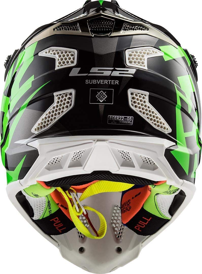 LS2 MX470 Subverter Motocross Helm Schwarz Matt XL 61//62