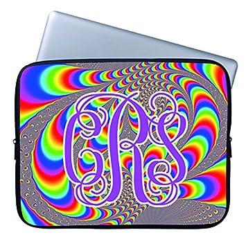 Personalizado Tie Dye Ordenador Funda con Nombre 15 15.4 Inch Colorido patrón de Ordenador para portátil Girly Girl portátil Funda Blanda para Apple MacBook ...