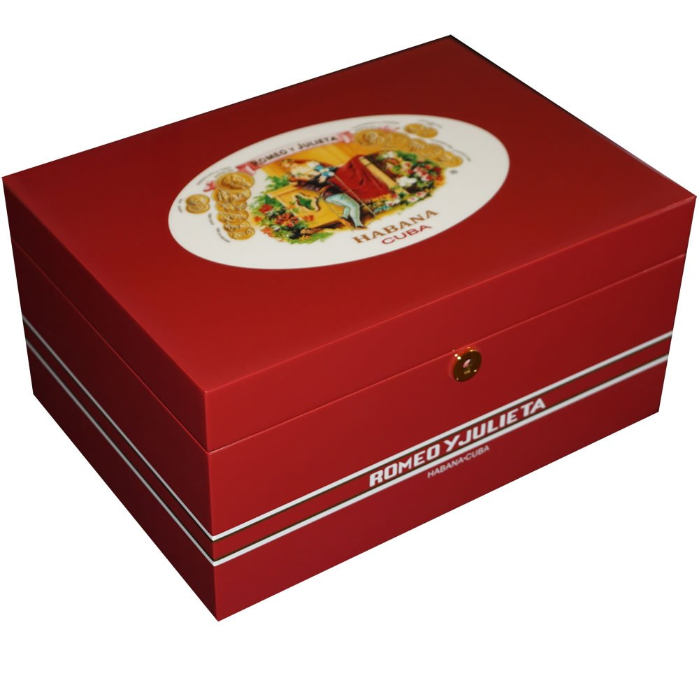 Illustrious Collection - Romeo Y Julieta - Romeo & Juliet Cigar Humidor - 100 Cigars - Limited Edition (13 1/2 X 9 1/2 X 61/2) by H20