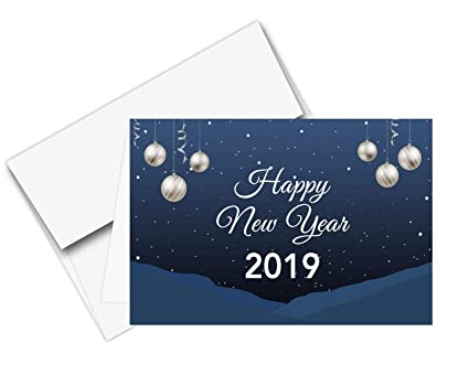 2019 happy new year cards envelopes 25 cards 25 envelopes per pack