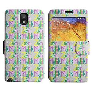 Be-Star Diseño Impreso Colorido Slim Casa Carcasa Funda Case PU Cuero - Stand Function para Samsung Galaxy Note 3 III / N9000 / N9005 ( Zayn Malik )