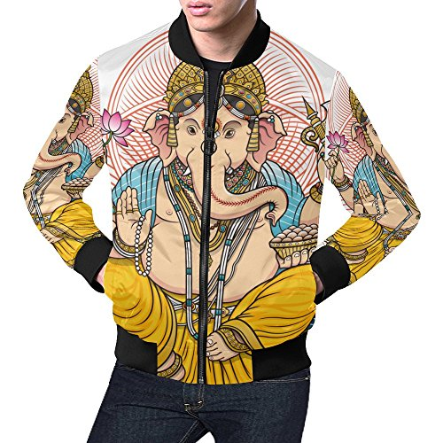Ganesh Ganesha Men's 3D Printed Full Zip Casual Jacket