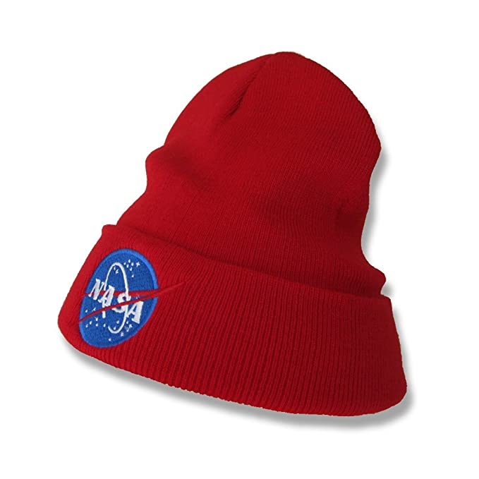 Nasa Embroidered Beanie Winter Hat (Red) at Amazon Men s Clothing store  efa4bf31f0c