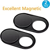Webcam Cover [2Pack], CloudValley Magnetic Metal Slider Web Camera Cover Sticker for MacBook Pro, iPad Pro, Laptop, Mac, PC, Surfcase Pro, iPhone 8/7/6 Plus, Privacy Cover[Black] (2 Pack-Magnetic)