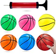 Shindel 6 inches Mini Toy Basketball, 6PCS Basketball for Toddlers, Colorful Kids Mini Toy Basketball Rubber Baketball for K