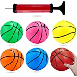 Shindel 6 inches Mini Toy Basketball, 6PCS Basketball for Toddlers, Colorful Kids Mini Toy Basketball Rubber Baketball…