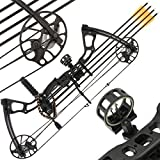 Anglo Arms 15-70LB Black'Chikara' Compound Cam Bow Set with 4 x Carbon Arrows