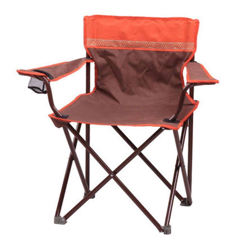 椅子 ホーム屋外キャンプチェアポータブルレジャー釣りピクニック折りたたみチェアオレンジ   B07DMFLCJP
