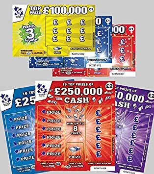 Scratch cards uk prizes for games