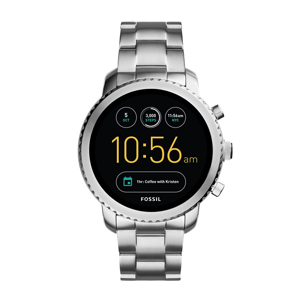 Fossil Q Men's Gen 3 Explorist Stainless Steel Smartwatch, Color: Silver-Tone (Model: FTW4000) by Fossil