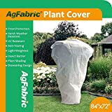 """Agfabric Warm Worth Frost Blanket - 0.95 oz 84""""x 72"""" Shrub Jacket, Rectangle Plant Cover for Frost Protection"""