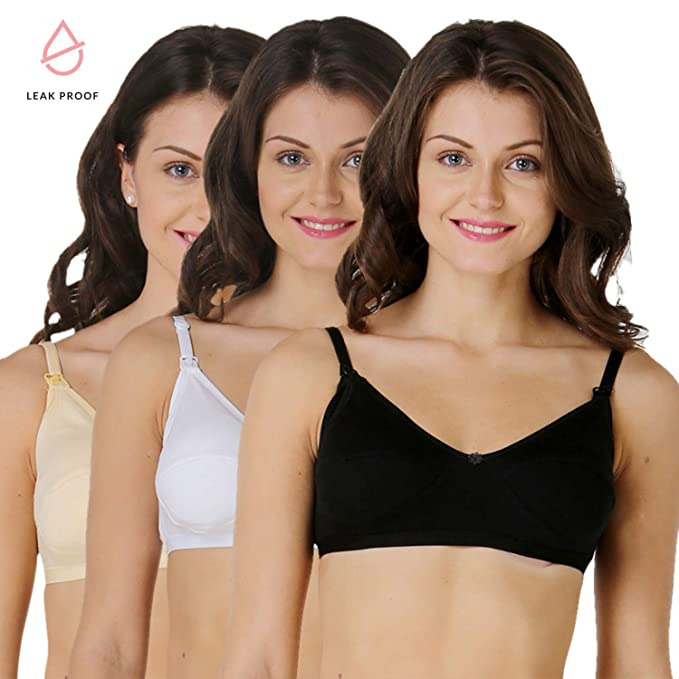 0594eb5843 Morph Maternity Women s Leakproof Nursing Bra - Pack of 3 (32B ...