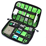 Universal Travel Cable Organizer Electronics Accessories Case,Travel Organizer for Phone Charger and Various USB Case(GJB19) (black)