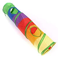 Cat Tunnel with Ball Pet Foldable Rabbit Play Kitten Toy Outdoor Indoor Supplies 25*120CM