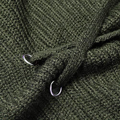 Verde Selvaggio Solidi Inverno Pipistrello Xmiral Outwear Camicetta Casuale Bendaggio Maglia A Manica Donne Cardigan Maglione Cime SqwaOpf