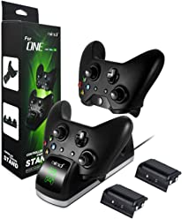 Xbox One Controller Charger with 2x 1200 Rechargeable Battery Packs, bebe Xbox One Controller Charging