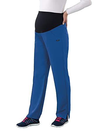 60e3c5a1550 Amazon.com: Classic Fit Collection by Jockey Women's Maternity Ultimate Elastic  Waistband Scrub Pant Large Royal: Clothing