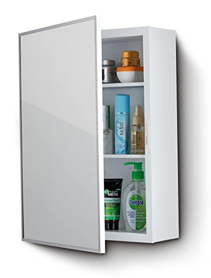 Marvelous Plantex High Grade Steel Bathroom Mirror Cabinet With Door Bathroom Shelf Rack Bathroom Accessories Size 15 X 20 Inches Beutiful Home Inspiration Xortanetmahrainfo