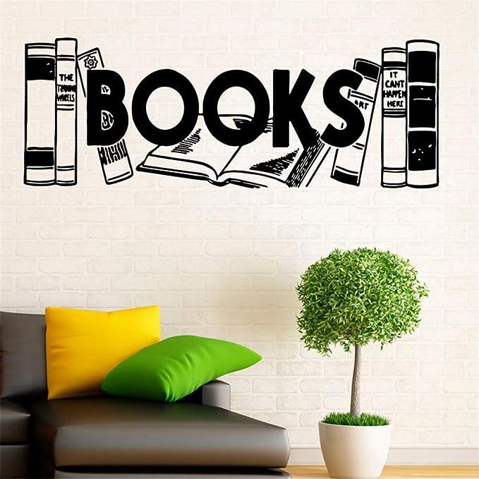 yiyiyaya Libros Etiqueta de La Pared Decoración para El Hogar Sala ...
