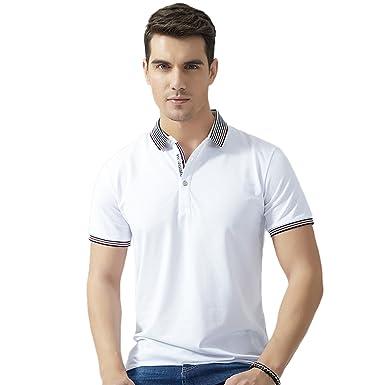 36dda4286bd13 LEGEND PAUL Men's Polo T-shirts Fashion Solid Color Classic Lapel T-shirts  Short