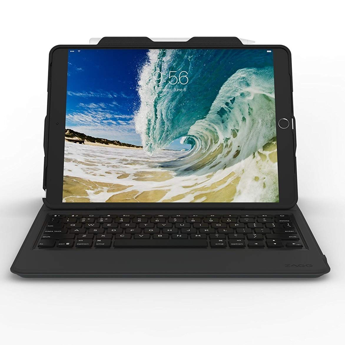 ZAGG 7 Color Backlit Case and Bluetooth Keyboard for 2017 Apple iPad Pro 10.5 and 2019 iPad Air 10.5 Black