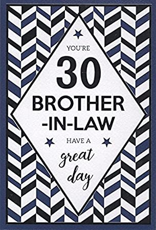 Happy 30th Birthday Brother In Law Card Amazoncouk Office Products