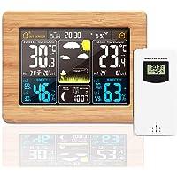 Konesky Estación Meteorológica Inalámbrica Reloj Digital USB Monitoreo