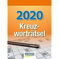 Kreuzworträtsel 2020: Tages-Abreisskalender mit einem neuen Kreuzworträtsel für jeden Tag I Aufstellbar I 12 x 16 cm