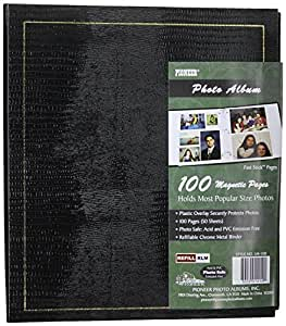 Pioneer Magnetic Page Photo Album, 10-Inch-by-11-1/2-Inch, Color Varies