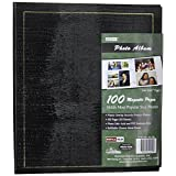 Pioneer Magnetic Page Photo Album, 10-Inch-by-11-1/2-Inch, 100 Pages, Colors May vary