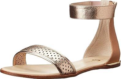d91555593253b Amazon.com | Yosi Samra Women's Sandals Cambelle Two-Tone Crinkle ...