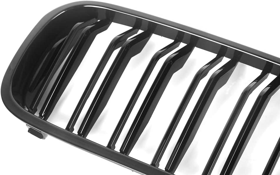 GSRECY Front Kidney Bumper Grille Grill For BMW G30 G31 G38 5 Series 525i 530i 540i 550i 2017-2019 Dual Slat Gloss Black