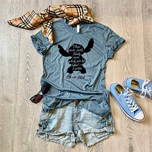 XX Large/Heather Slate/Lilo & Stitch Disney Trip Shirt/Disney Inspired Shirt/Love Ohana/Screen Printed With Eco Friendly Ink//
