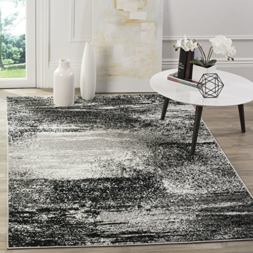 Safavieh Adirondack Collection ADR112G Silver and Multi Modern Abstract Square Area Rug (6' Square) - 6 Square Rug