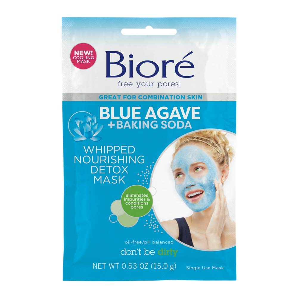 Biore Agave & Baking Soda Whipped Nourishing Detox Mask, 6 Count