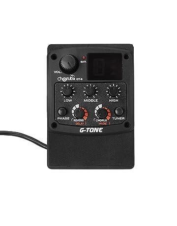 Andoer® GT-6 Cherub G-Tono de Guitarra acústica Preamp Piezo Pickup 3