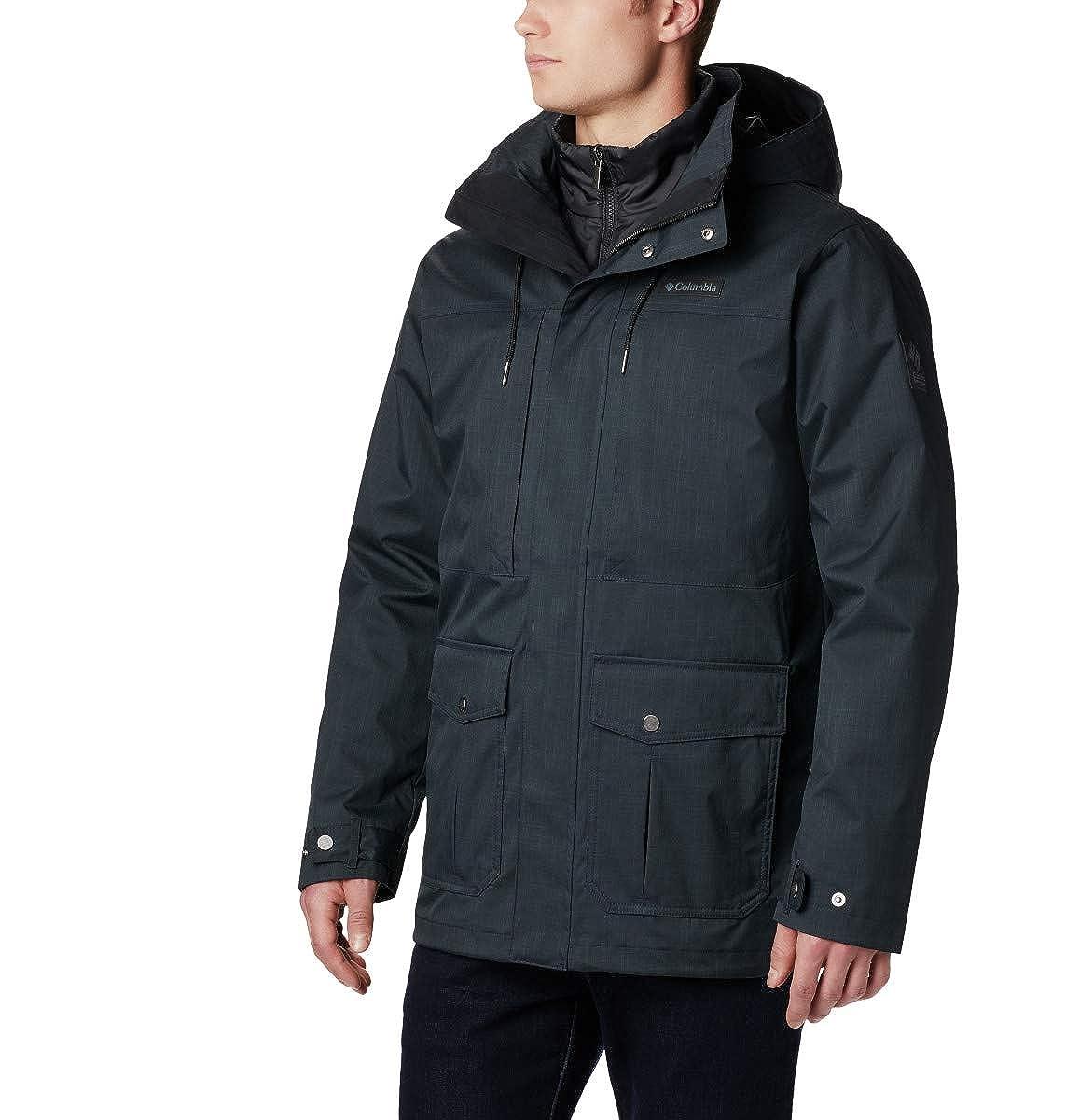 TALLA S. Columbia Horizons Pine Interchange Jacket Chaqueta Impermeable, Poliéster, Hombre