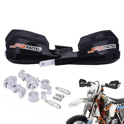 "Handguards Dirt Bike Hand Guards - Universal For 7/8"" And 1 1/8"" Handlebar - For Dirt Bike For Honda Yamaha Kawasaki Suzuki Motocross Enduro Supermoto(Black): Automotive"