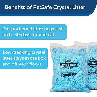 PetSafe ScoopFree Premium Crystal Non-Clumping Cat Litter