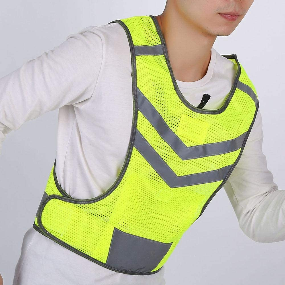 Reflective Cycling Bike Vest Yellow Fluorescent Safety Reflective Vest Adjustable Safety High Visibility for Outdoor Running Hiking Woman Man Footwear