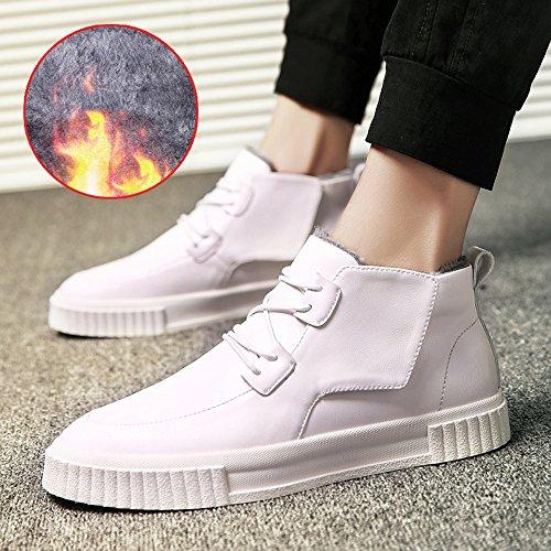 Men's Shoes Feifei Non-Slip High Help Keep Warm Casual Shoes 3 Colors White gq0AtqY6NS