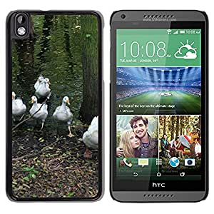 Hot Style Cell Phone PC Hard Case Cover // M00116236 Geese Flock Nature Water Park Lake // HTC Desire 816
