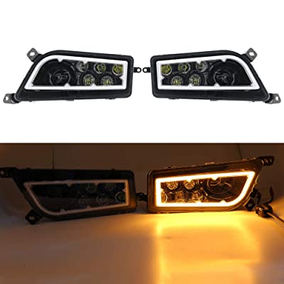 SOYAVISION For Polaris RZR XP 1000 LED Headlights RZR 900 Fits 2014-2016 ATV Headlamp with Amber Halo Ring Angel Eyes DRL: Automotive