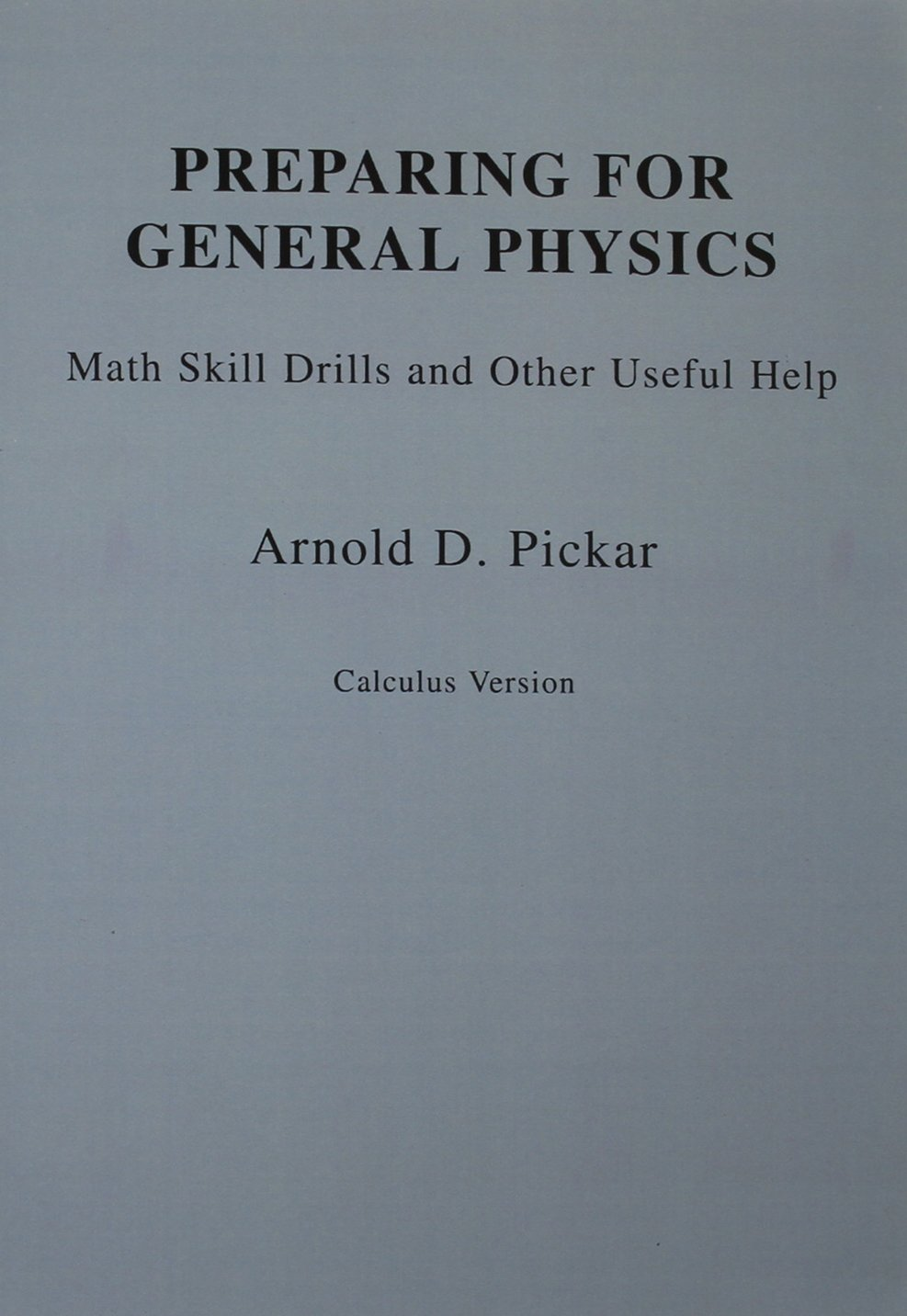 Buy Preparing for General Physics: Math Skills Drills and Other ...