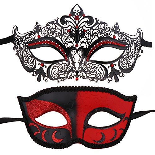 Couple's Masquerade Masks Mardi Gras Mask Venetian Party Mask Halloween Costumes -