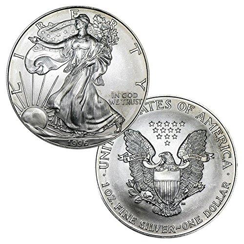1996 American Silver Eagle $1 Brilliant - 1996 Eagle Coin Silver American